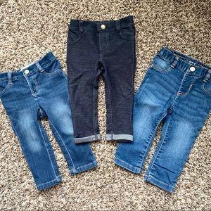 3 pairs Old Navy 18-34mo denim pants